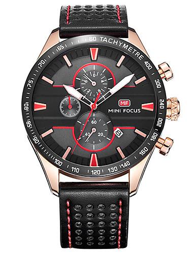 Homens Relógio Elegante Relógio de Moda Quartzo Venda imperdível Couro Legitimo Banda Amuleto Casual Preta Marrom Cinza