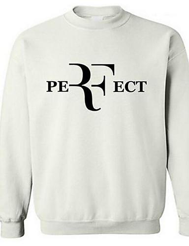 Men's Active Long Sleeve Sweatshirt - Letter Round Neck