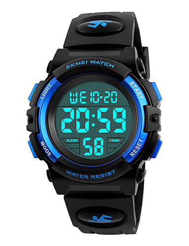 SKMEI Sport Watch / Military Watch / Wrist Watch Japanese Alarm / Calendar / date / day / Chronograph PU Band Fashion Black / Water Resistant / Water Proof / Stopwatch / Noctilucent