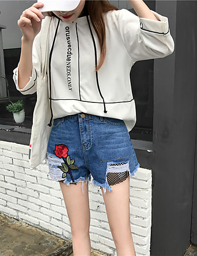 Women's High Rise Micro-elastic Shorts Pants,Simple Relaxed Solid