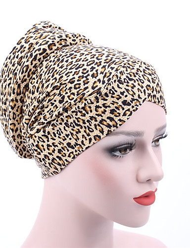 Women's Active Cotton Floppy Hat - Floral / Leopard Pleated / Fabric / Summer
