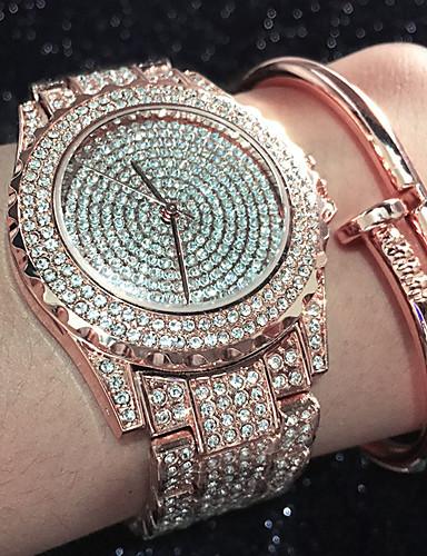 Mulheres Relógio Pavé Simulado Diamante Relógio Único Criativo relógio Bracele Relógio Relógio de Moda Relógio Casual Chinês Quartzo
