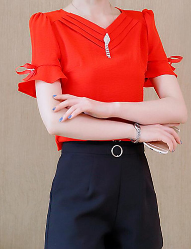 Women's Going out Daily Work Street chic Summer Blouse Pant Suits