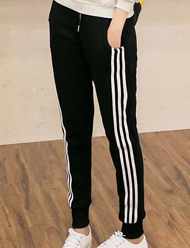 Women's High Rise Micro-elastic Active Pants,Active Cute Simple Loose Straight Solid