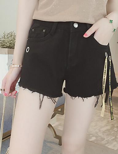 Women's High Waist Micro-elastic Shorts Pants,Simple Wide Leg Solid