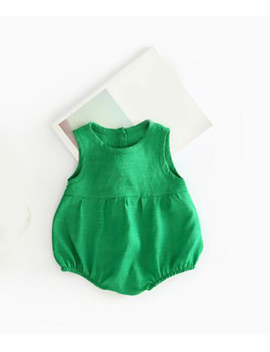 Baby Other One-Pieces, Cotton Summer Green White Red Blushing Pink Yellow