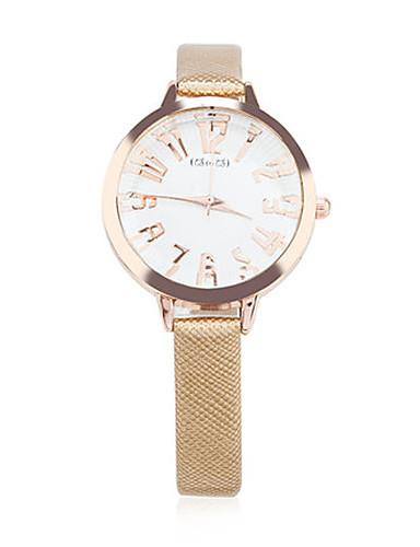 Women's Fashion Watch Quartz Leather Band Gold