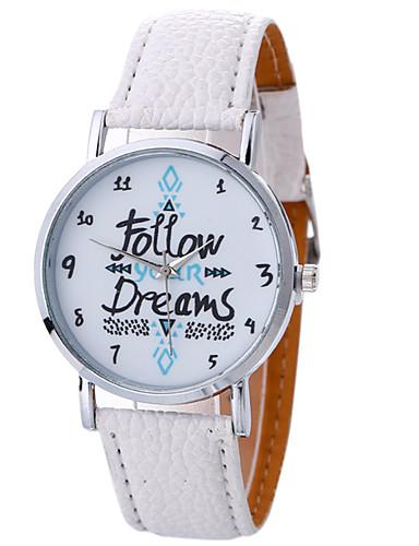 Mulheres Relógio Esportivo Relógio de Pulso Quartzo Criativo Relógio Casual Legal Couro Banda Analógico Amuleto Luxo Casual Preta / Branco / Marrom - Branco Preto Marron