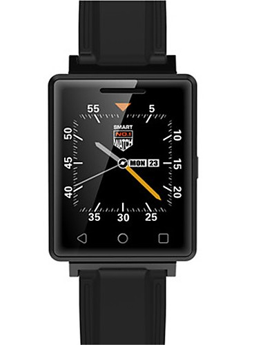 Men's Smart Watch Digital Silicone Band Black