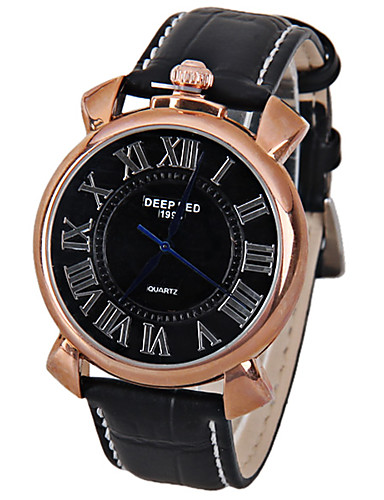 Men's Wrist Watch Japanese Casual Watch Leather Band Sparkle / Vintage / Fashion Black / Brown / SSUO LR626