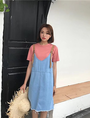 Women's Going out Daily Simple Street chic Denim Dress