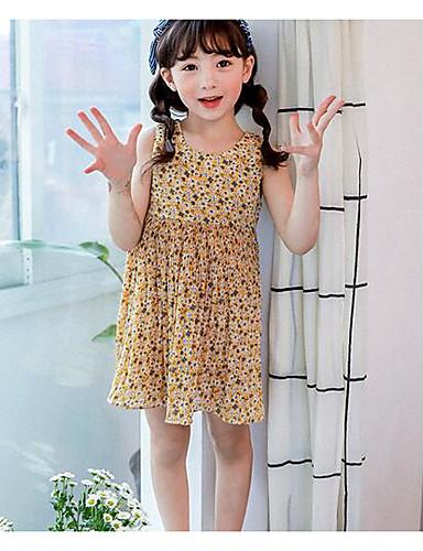 Girl's Polka Dot Dress,Cotton Summer Sleeveless