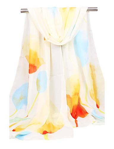 Naisten Neliskulmainen Kevät Syksy Sifonki Uima-allas Rubiini Punastuvan vaaleanpunainen Keltainen