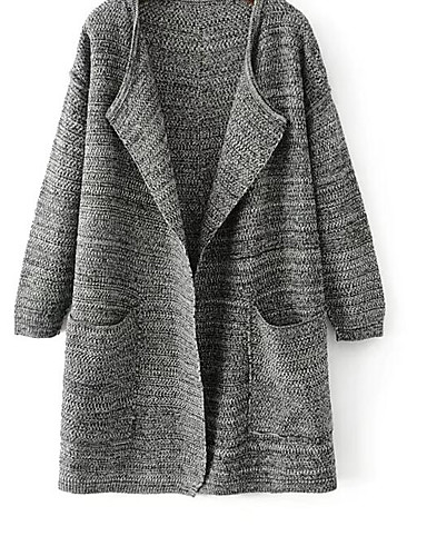 Women's Going out Daily Street chic Long Cardigan