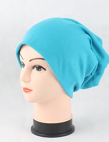 Unisex Cotton Beanie Floppy Hat Headwear Cute Casual Modern Daily Knitwear Solid Fall Winter Pure Color Cap Red/Black/Pink/Orange/Blue