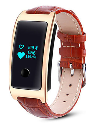 Men's Smart Watch Fashion Watch Digital Leather Band Brown