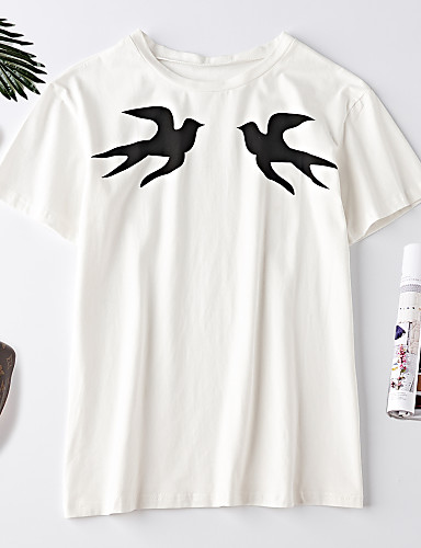 Women's Going out Daily Work Casual Cute Street chic Spring Fall T-shirt