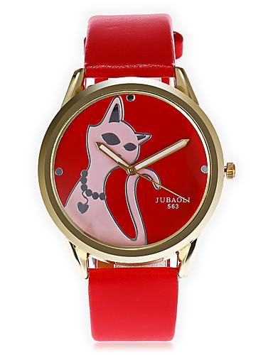 JUBAOLI Homens Quartzo Relógio de Pulso Chinês Mostrador Grande Couro Banda Desenho Relógio Criativo Único Fashion Legal Preta Branco