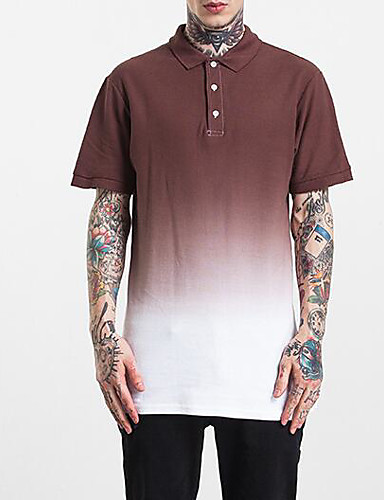 Men's Sports Going out Daily Casual Street chic Active Summer Fall Polo