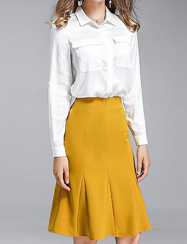 Women's Daily Work Casual Summer Shirt Skirt Suits