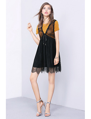Women's Going out Daily Casual Summer T-shirt Skirt Suits