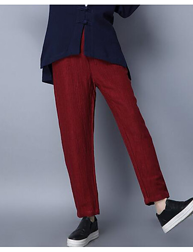 Women's Casual Slim / Chinos Pants - Solid Colored / Summer