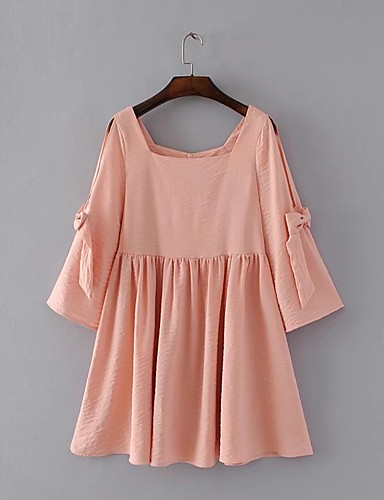 Women's Going out Daily Simple Street chic Chiffon Dress