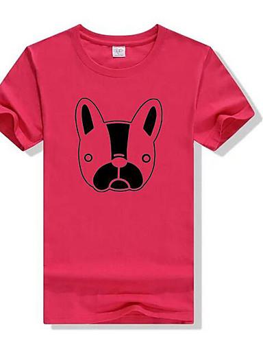 Bomull T-skjorte Dame - Ensfarget, Trykt mønster