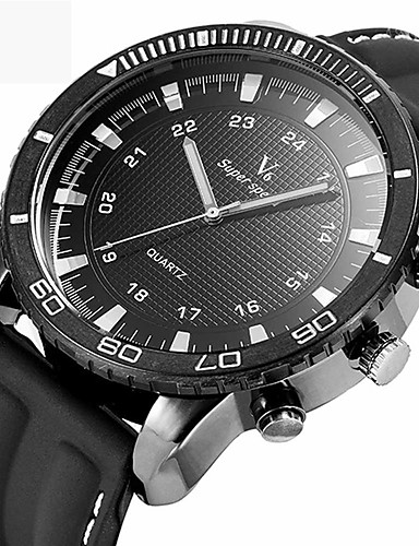 Men's Quartz Wrist Watch Sport Watch Chinese Water Resistant / Water Proof Silicone Band Creative Casual Unique Creative Watch Elegant