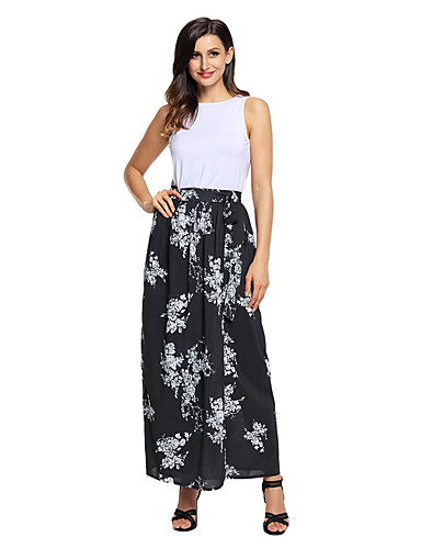 Women's Holiday Maxi Skirts,Cute Relaxed Holiday Print Summer