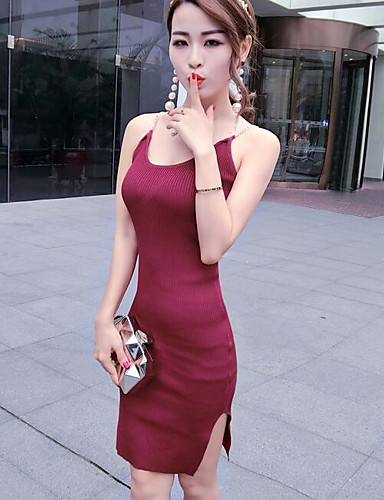 Women's Holiday Going out Daily Sheath Dress