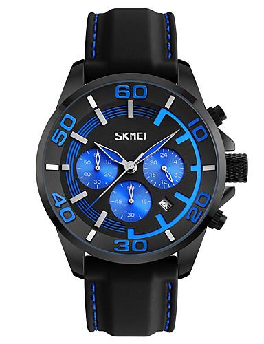 SKMEI Homens Relógio de Pulso Relógio Elegante Relógio de Moda Japanês Quartzo Calendário Impermeável Silicone Banda Legal Preta
