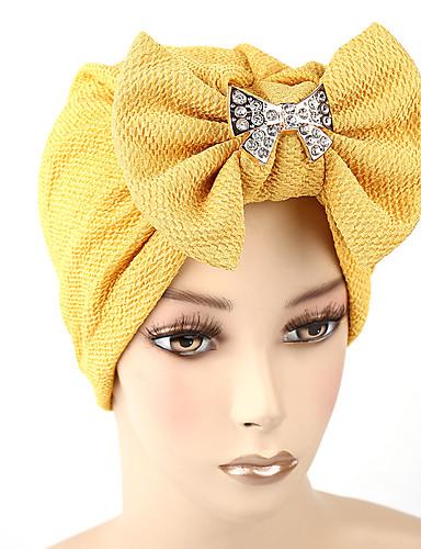 Mulheres Chapéu / Flor Algodão, Floppy - Laço Sólido / Verão