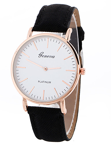 8393acb2685a Geneva Mujer Reloj Deportivo Reloj de Pulsera Cuarzo Piel Negro   Blanco    Marrón Creativo Reloj Casual Cool Analógico damas Encanto Lujo Casual Moda  ...