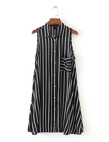 Women's Holiday Going out Daily Simple Street chic Shirt Dress