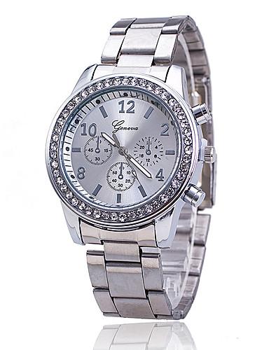 Mulheres Relógio de Pulso Quartzo imitação de diamante Lega Banda Analógico Amuleto Casual Fashion Prata / Dourada / Ouro Rose - Dourado Prata Ouro Rose