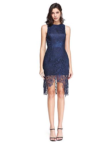 Eng anliegend Schmuck Asymmetrisch Spitze Cocktailparty / Abschlussball / Abiball Kleid mit Spitze durch TS Couture®