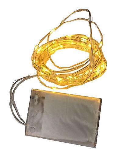 billige Holiday Decoration Light-2m Lysslynger 20 LED Varm hvit / RGB / Hvit Batteri / IP65