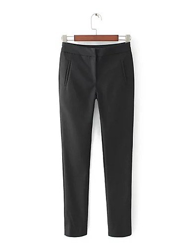 Women's Mid Rise strenchy Skinny Business Pants,Street chic Relaxed Pure Color Solid