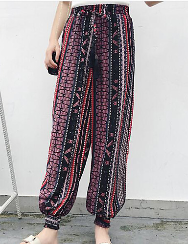 Women's Street chic Wide Leg Pants - Striped