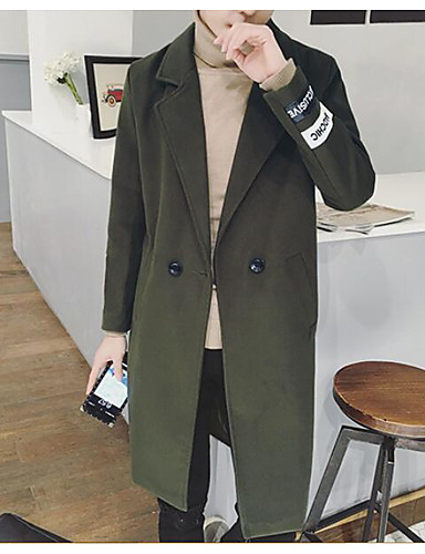 Men's Daily Casual Fall Winter Trench Coat