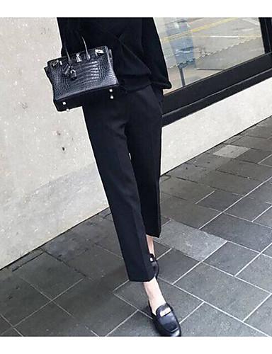 Women's High Waist Inelastic Wide Leg Pants,Simple Wide Leg Solid