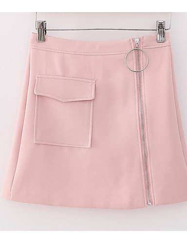 Women's Holiday Above Knee Skirts A Line Solid Summer