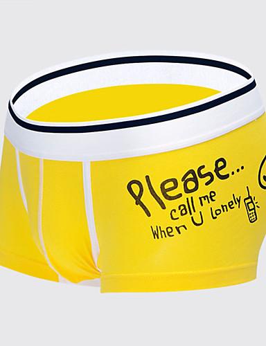 Homens Média 1pç Branco Preto Vermelho Cinzento Amarelo