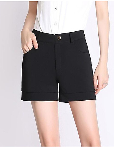 Women's Mid Rise Micro-elastic Shorts Pants,Sexy Straight Solid