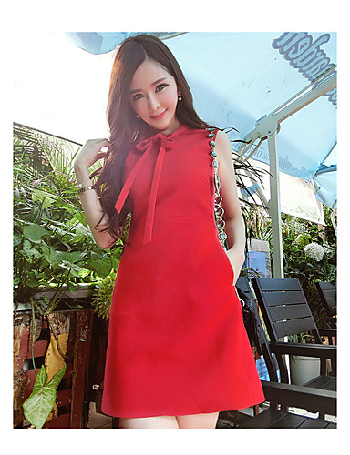 Women's Daily Casual Bodycon Dress,Solid Round Neck Knee-length Short Sleeves Rayon Polyester 100%Cotton Summer Mid Rise Micro-elastic