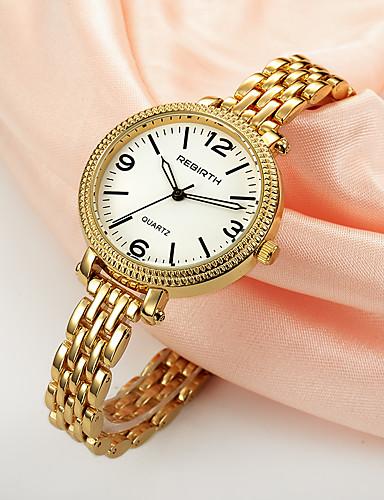 REBIRTH Mulheres Relógio de Moda Chinês Quartzo Venda imperdível Lega Banda Amuleto Prata Dourada