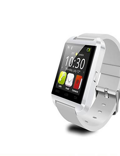 Men's Smart Watch Digital Rubber Band Black White Red
