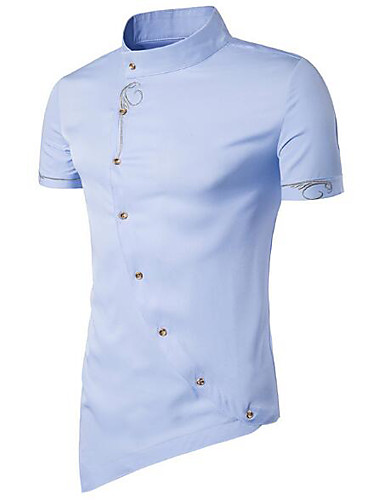 Men's Casual Cotton Shirt - Solid Colored