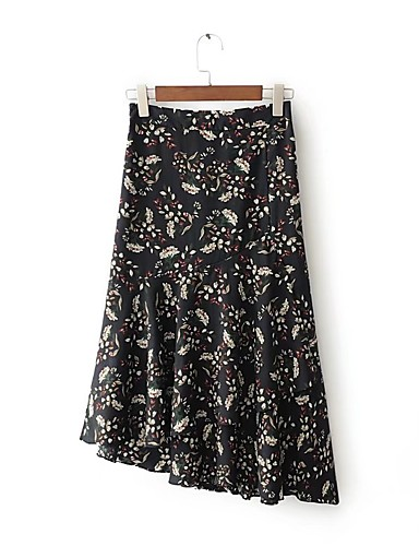Women's Daily Going out Asymmetrical Skirts
